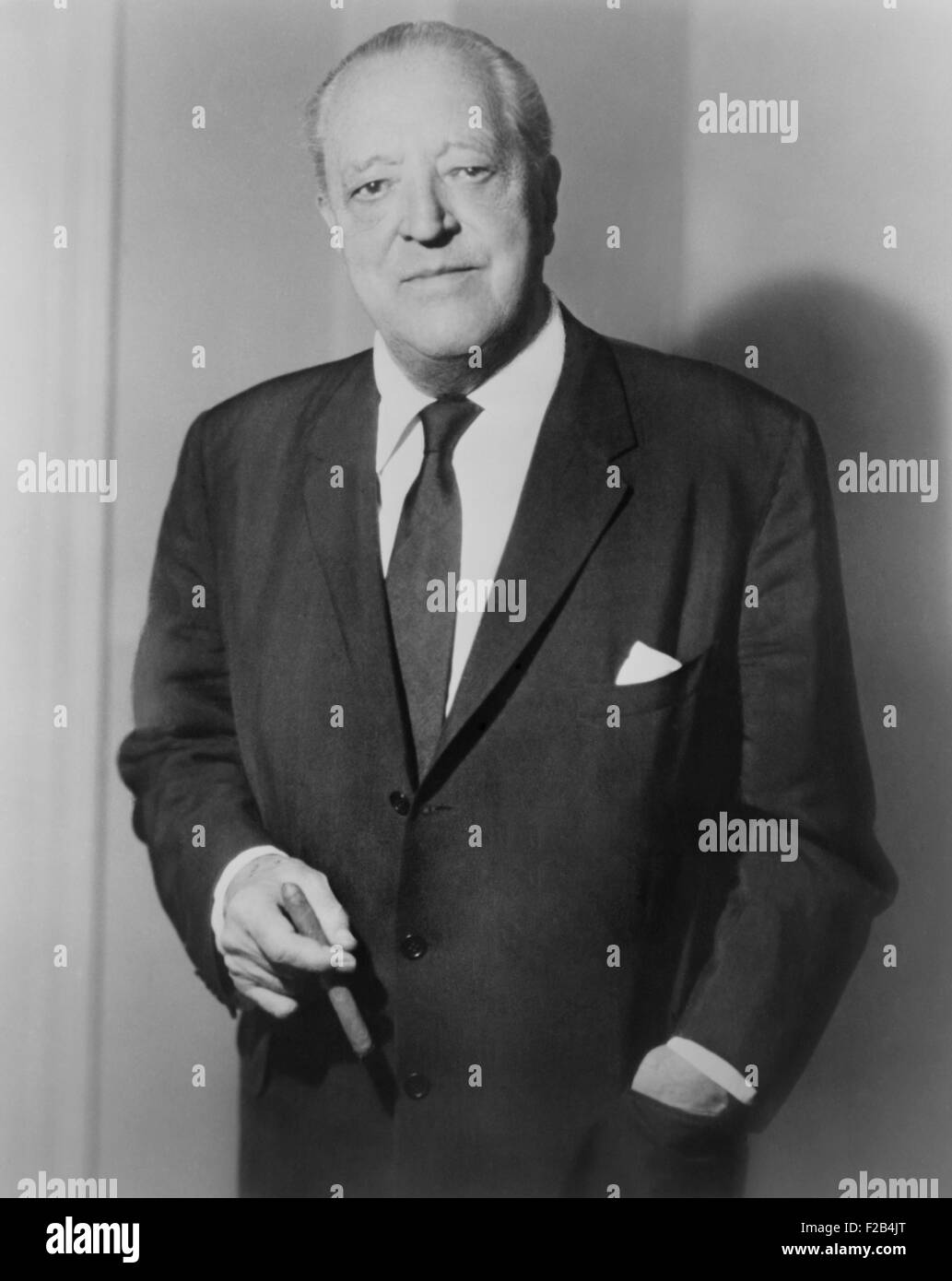 Ludwig Mies van der Rohe, German-American architect and educator. Mies emigrated to the U.S.in 1937, and settled - Stock Image