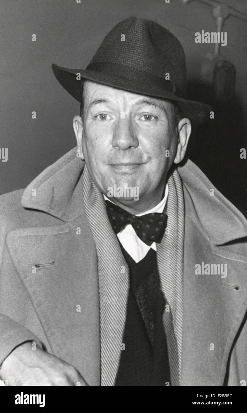 Noel Coward, English playwright, composer, director, and actor in 1949. - (BSLOC_2014_17_193) - Stock Image