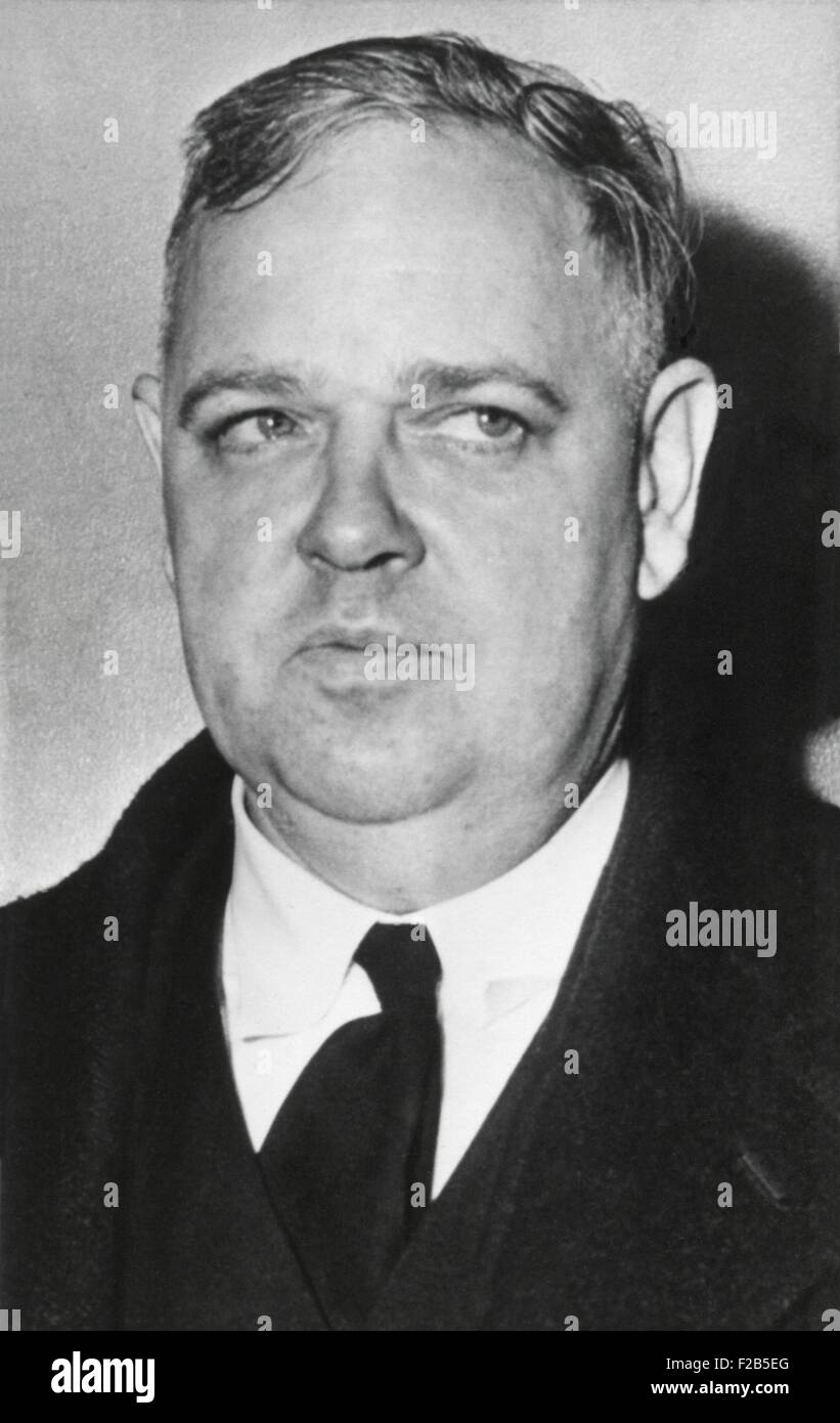 Whittaker Chambers, named of Alger Hiss as a fellow Communist the 1930s during his HUAC testimony in August 3, 1948. - Stock Image