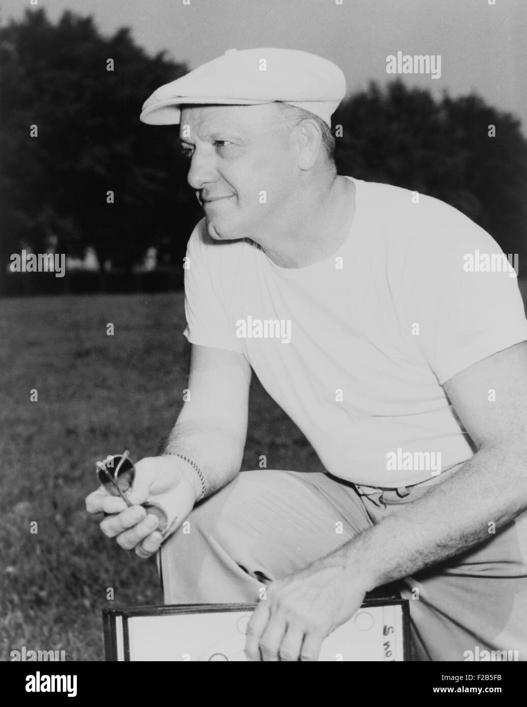 George Halas, founder and coach of the Chicago Bears in 1949. He was one of the original co-founders of the National - Stock Image