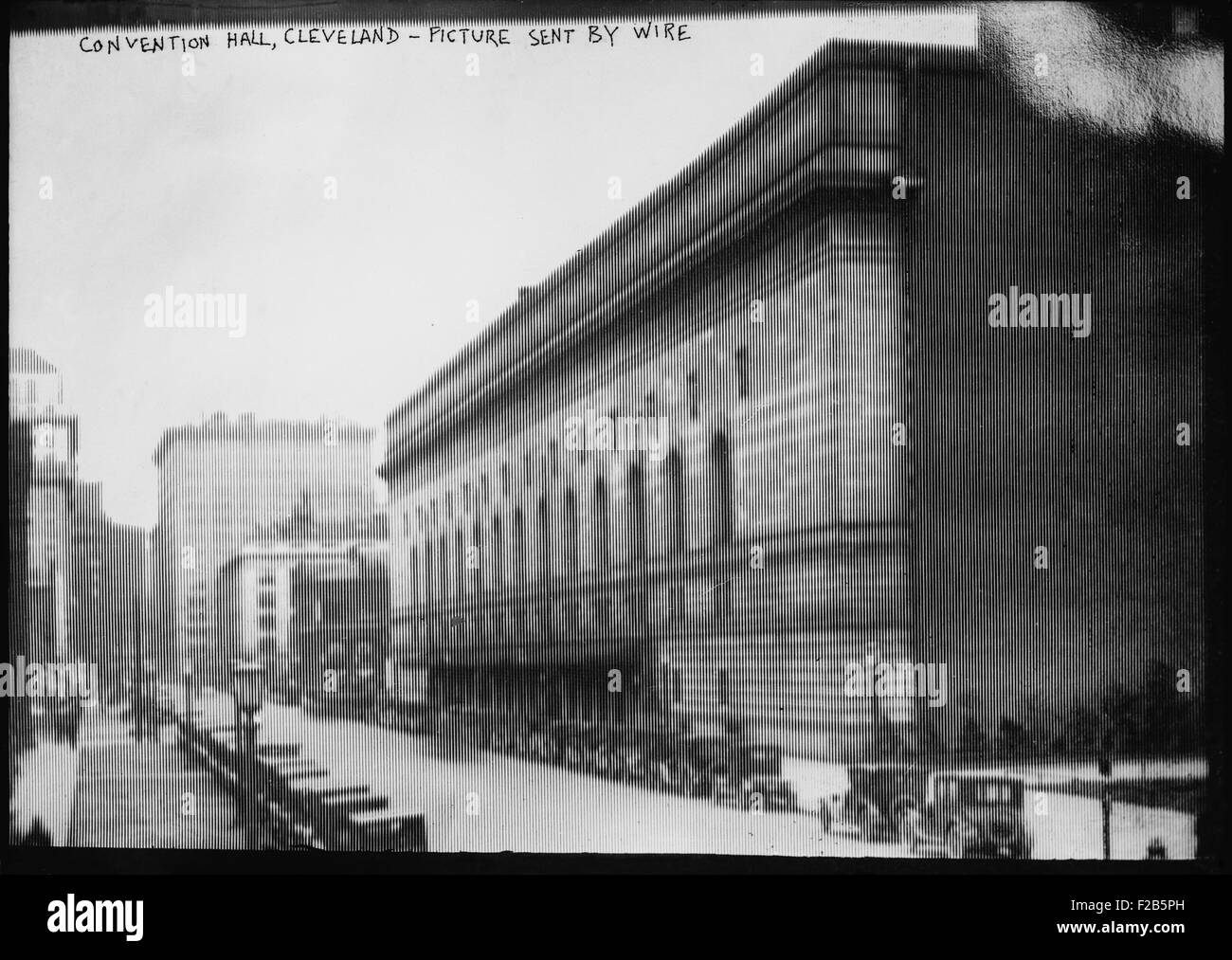 Public Auditorium, Cleveland, Ohio in image sent by wire to Bain ...