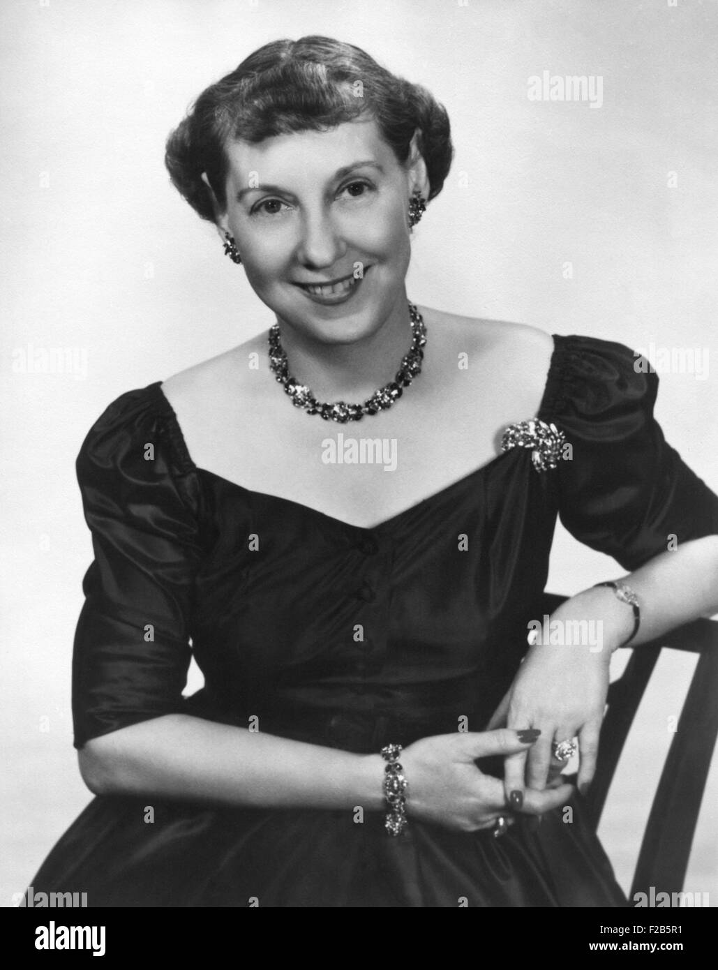 First Lady Mamie Eisenhower, 1953. - (BSLOC_2014_16_90) - Stock Image