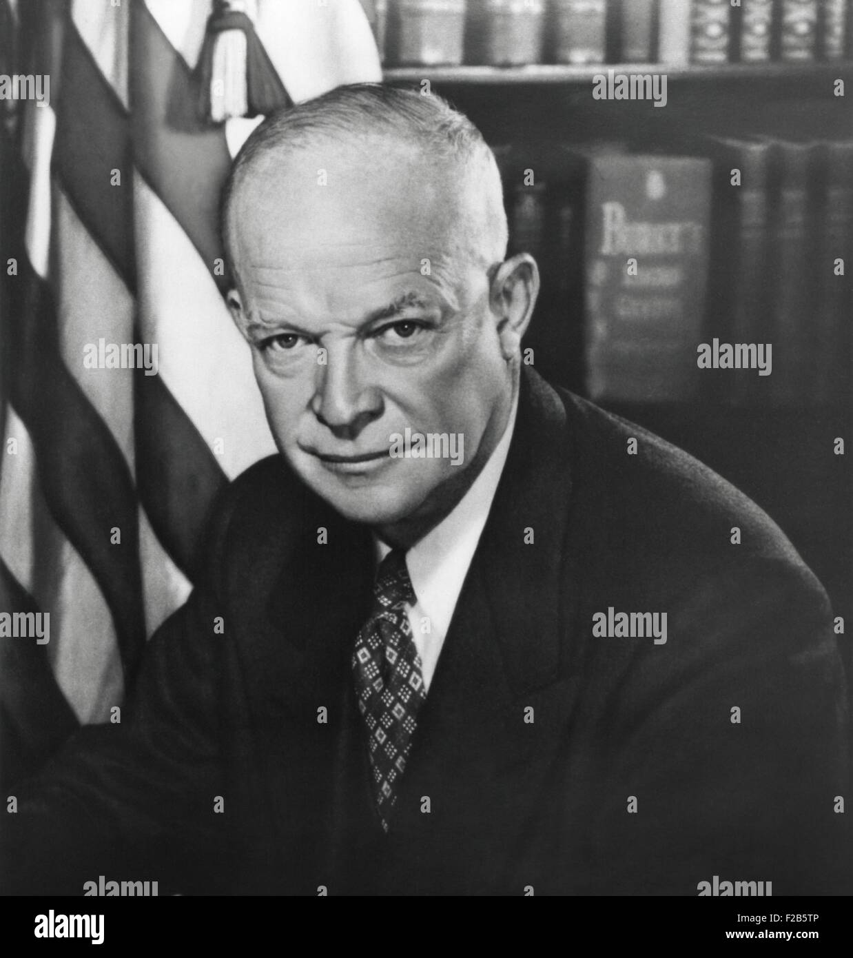 President Dwight Eisenhower. 1953 photo by George Tames. - (BSLOC_2014_16_48) - Stock Image