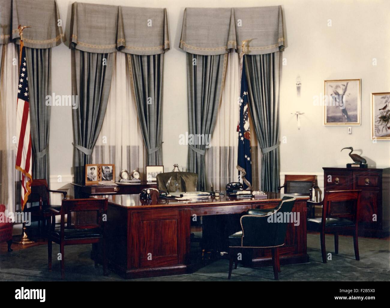 Oval Office and President's during the Eisenhower Administration. 1953-1960. - (BSLOC_2014_16_247) - Stock Image