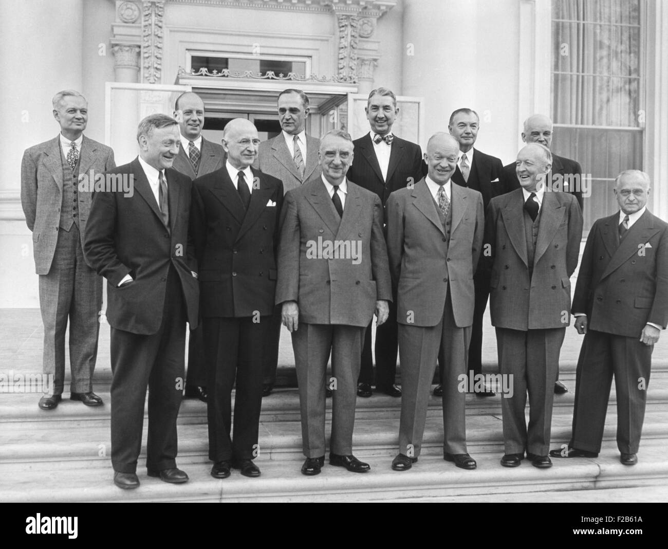 Supreme Court at the White House for a Luncheon. Feb, 6, 1953. L-R: Front Row, L-R: William O. Douglas; Stanley - Stock Image