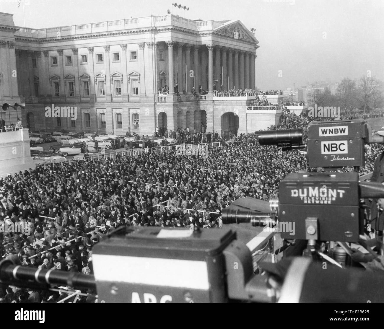 Television and newsreel cameras at the first inauguration of President Eisenhower. Jan. 20, 1953. - (BSLOC_2014 - Stock Image