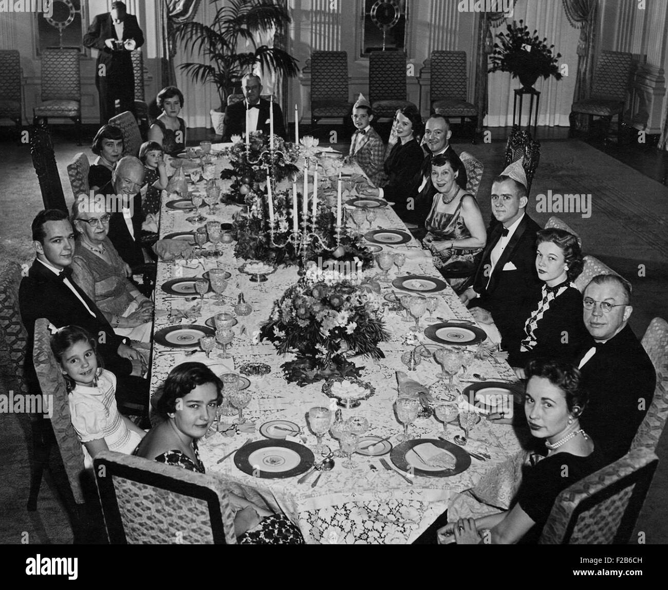 Mamie Eisenhower Has A Big Family Dinner At The White House On Her  Birthday. Nov. 14, 1956. President Eisenhoweru0027s Election Victory Eight Days  Earlier Added ...