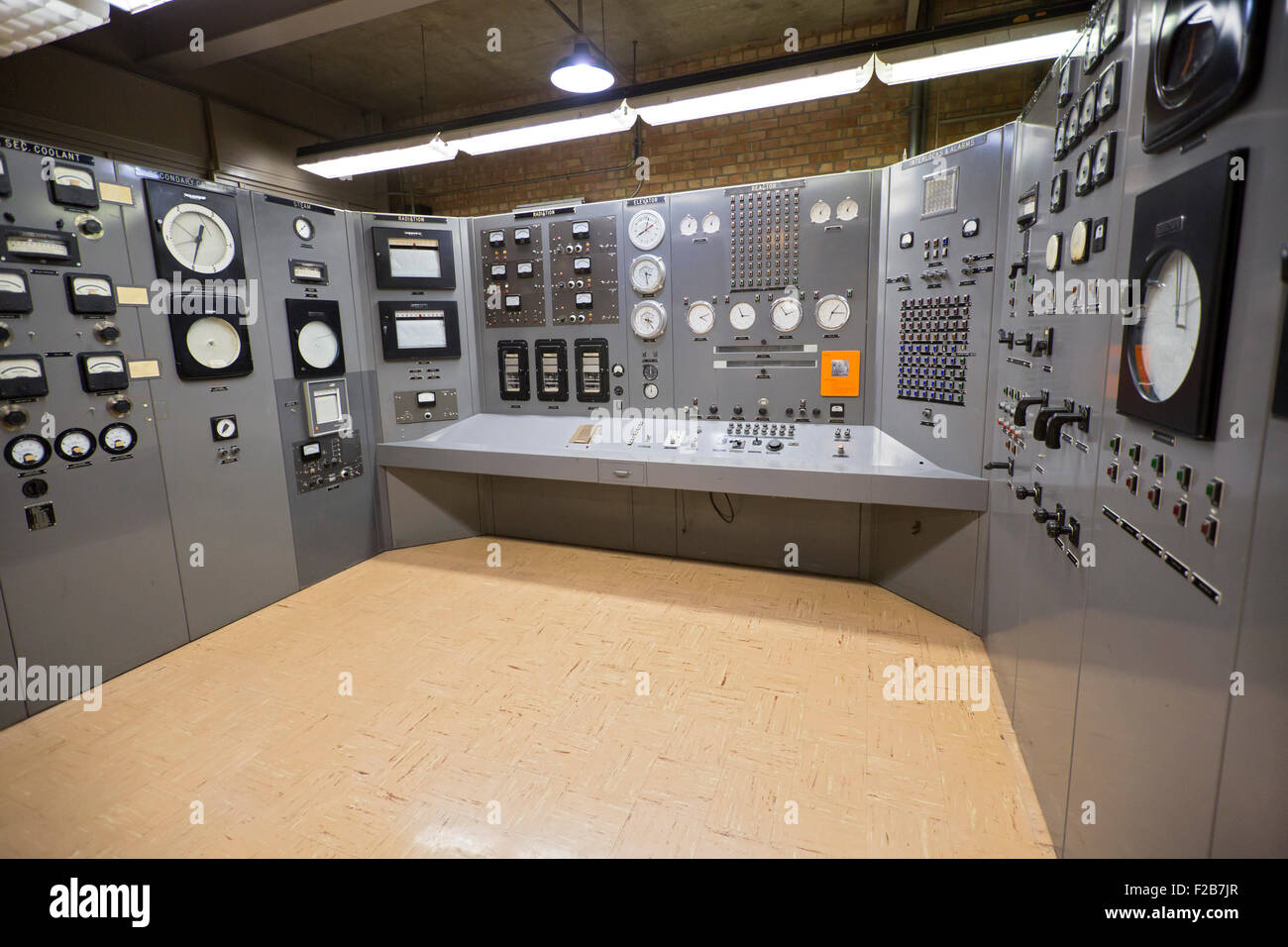 Arco, Idaho - The control room of Experimental Breeder Reactor No. 1 (EBR-1), the first nuclear reactor to produce - Stock Image