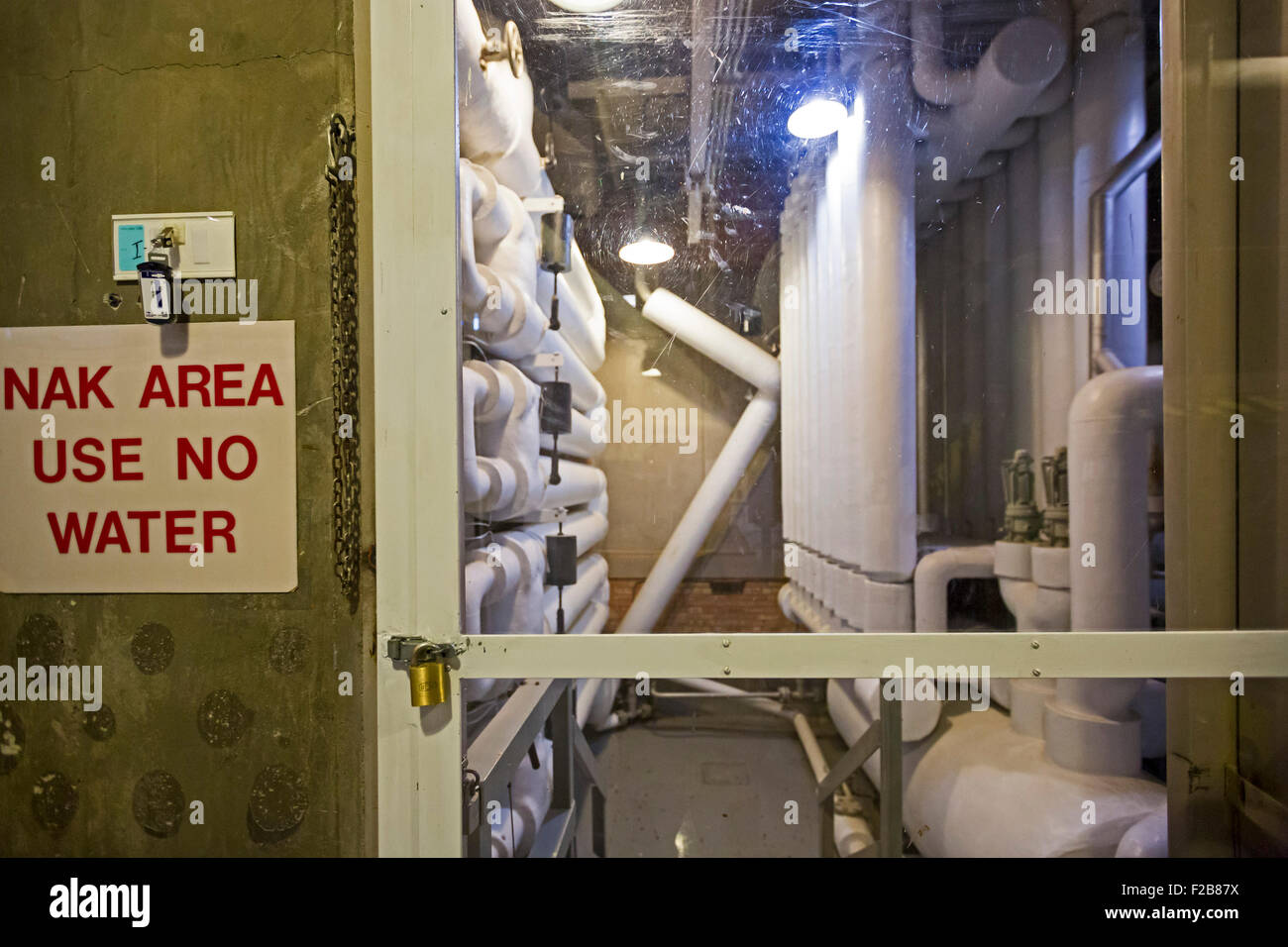 Arco, Idaho - A heat exchanger at the Experimental Breeder Reactor No. 1), the first nuclear reactor to produce - Stock Image