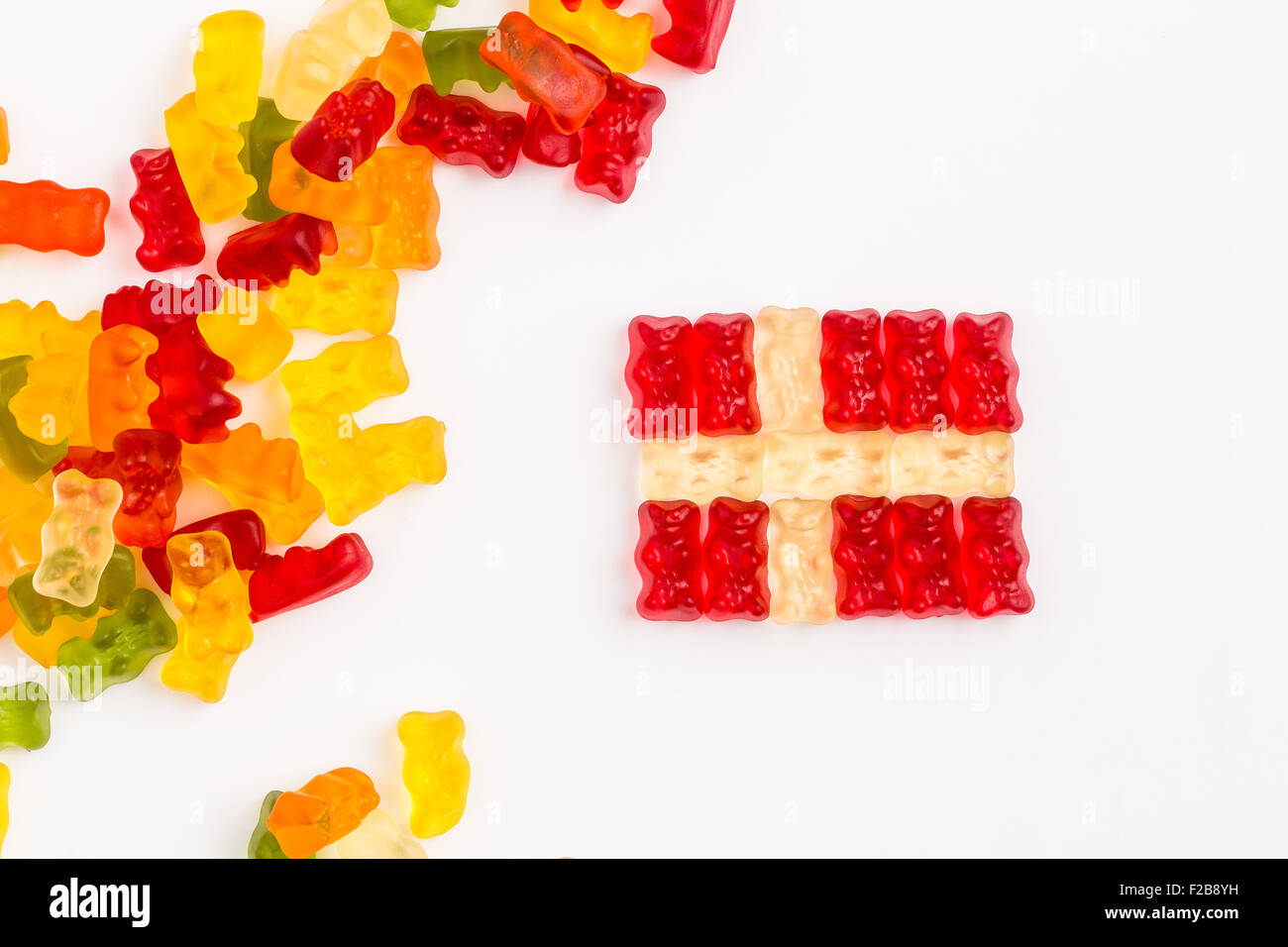 Danish flag - Stock Image