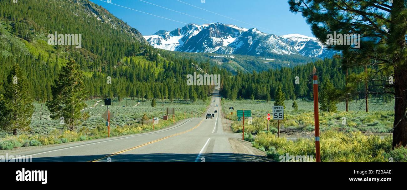 Tioga Pass view near the June Lake in California. Stock Photo