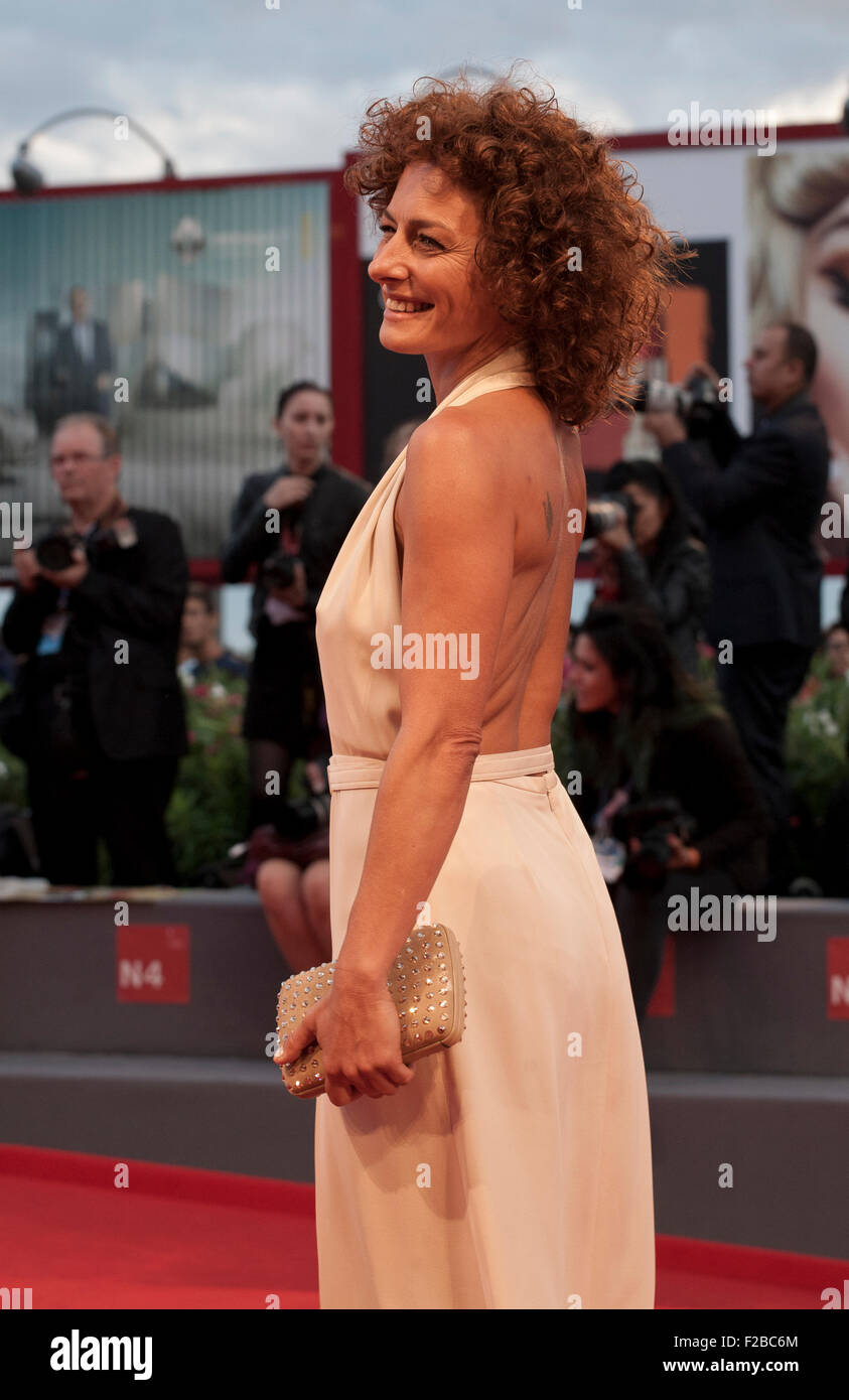 Lidia Vitale at the gala screening for the film The Danish Girl  at the 72nd Venice Film Festival, Saturday September - Stock Image