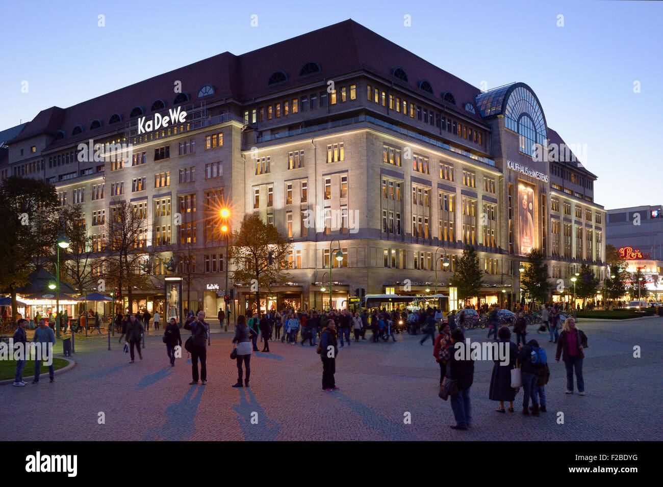 KaDeWe, Kaufhaus des Westens, Berlin's biggest department store,  Tauentzienstrasse street, Schoeneberg, Berlin - Stock Image