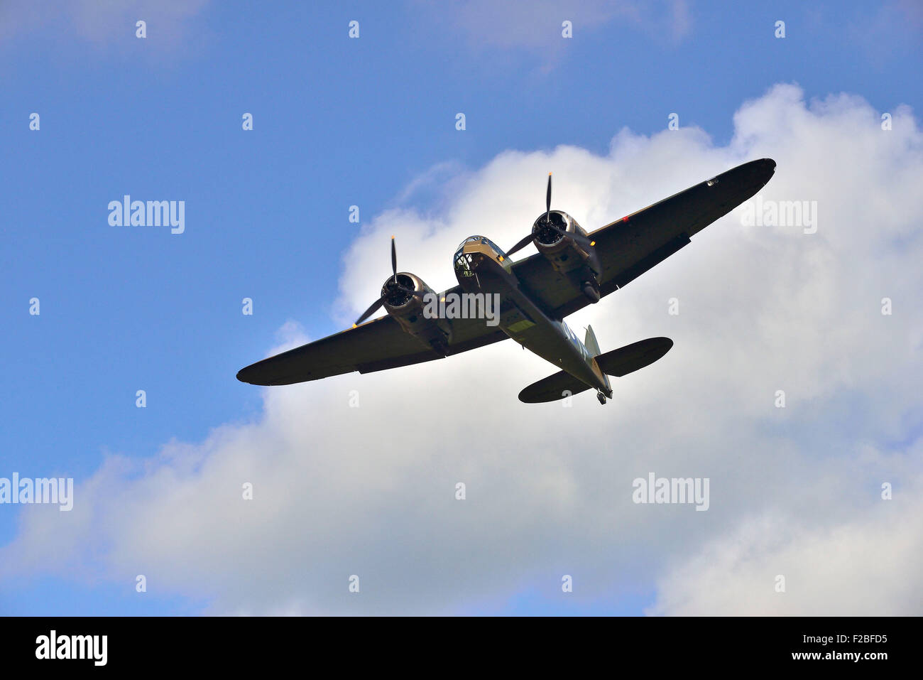 75th Anniversary Battle of Britain,  Amazing scenes in the sky above Goodwood Aerodrome today . A flypast involving - Stock Image