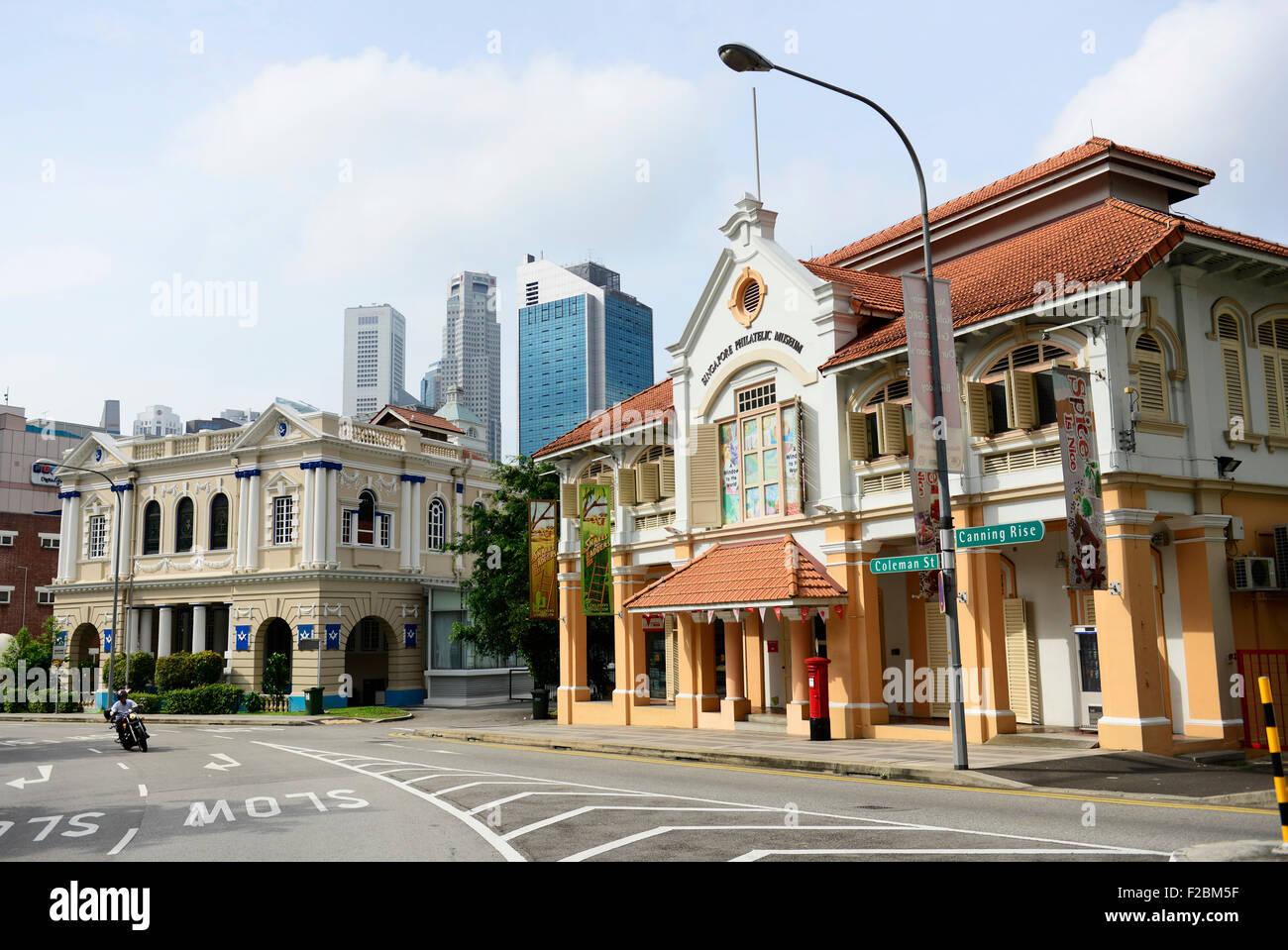 The beautiful building housing the Singapore philatelic museum. - Stock Image