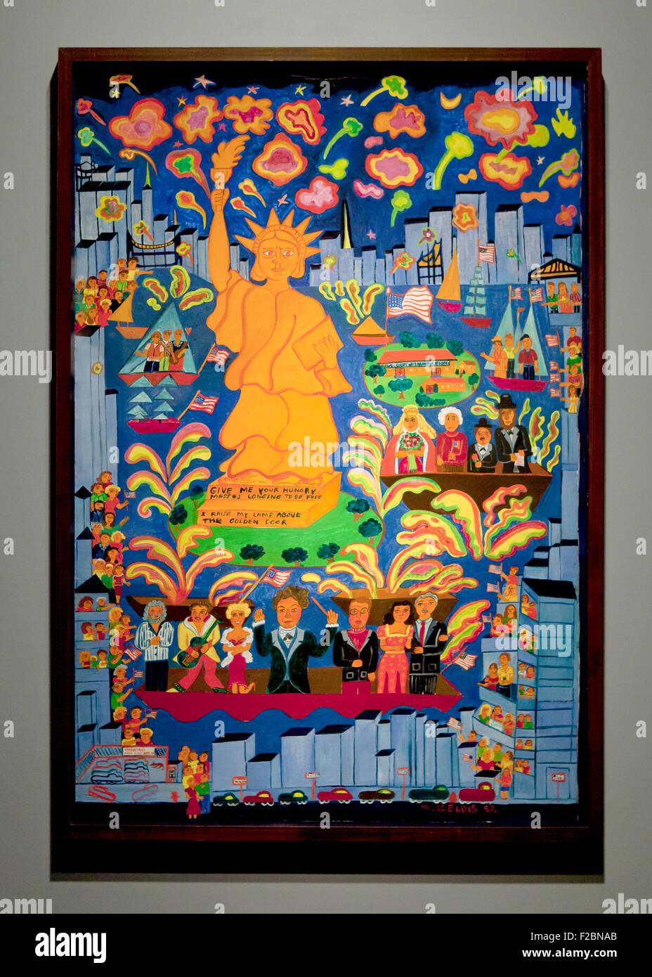 Miss Liberty Celebration By Malcah Zeldis Circa 1987 Usa