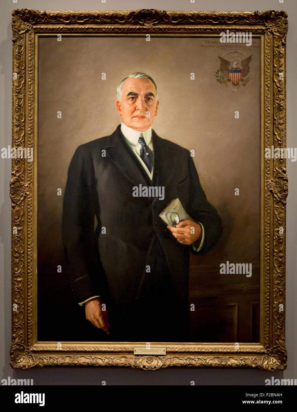 Warren G Harding by Margaret Lindsay Williams, circa 1923 - Stock Image