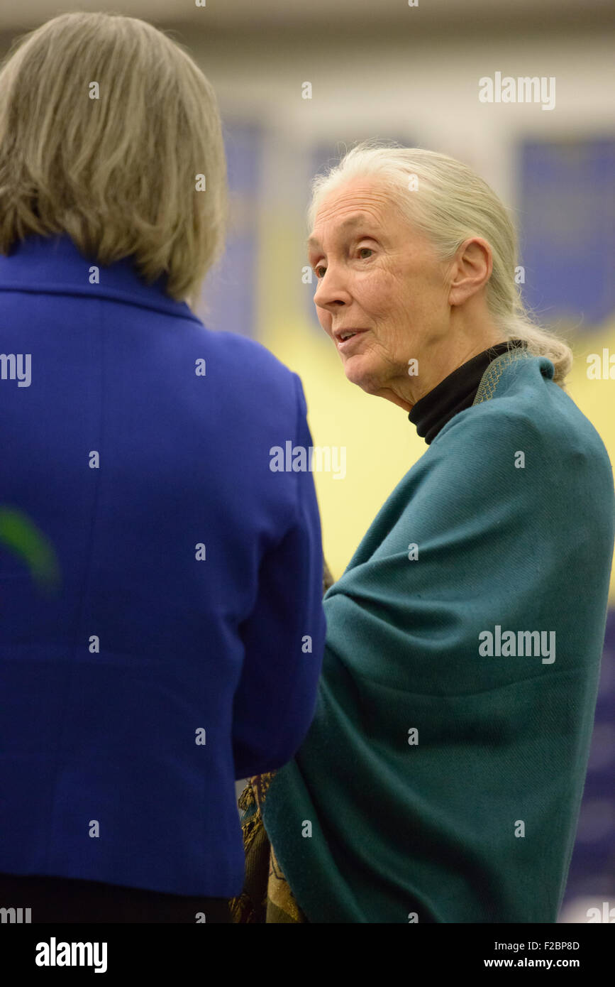 Rosemont, Pennsylvania, USA. 15th Sep, 2015. Dr. Jane Goodall, DBE, one of the world's most renowned conservationists, Stock Photo