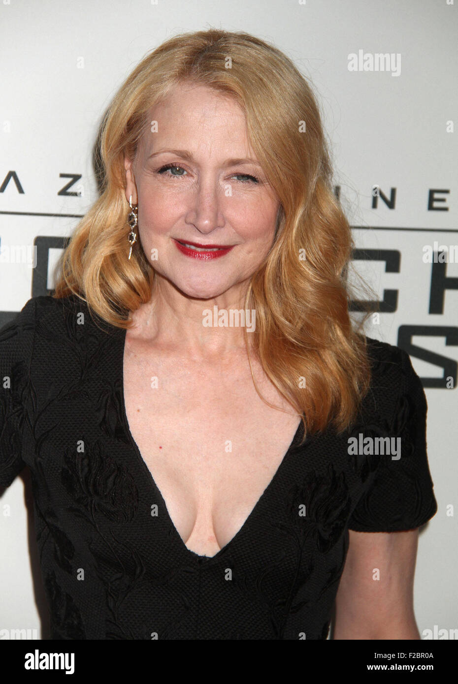 New York, New York, USA. 15th Sep, 2015. Actress PATRICIA CLARKSON attends the New York premiere of the 'Maze - Stock Image