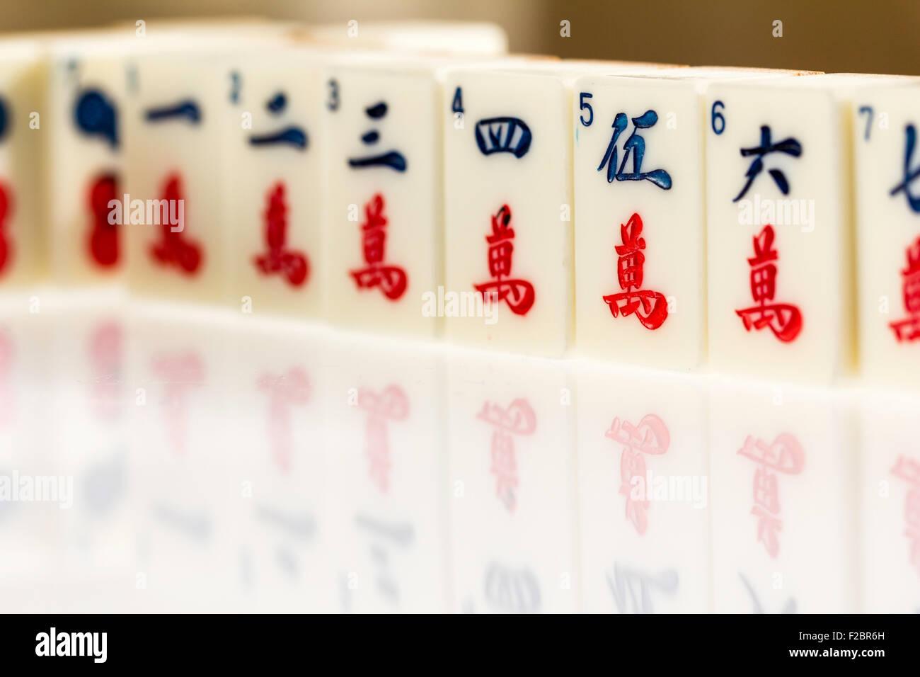 Mahjong Tiles Stock Photos & Mahjong Tiles Stock Images - Alamy