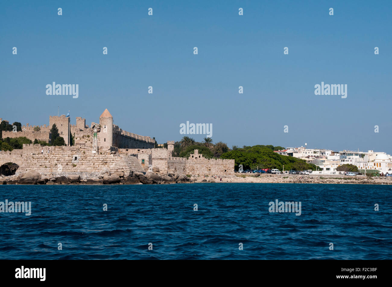 Rhodes is called the island of the knights because the Knights of Saint John of Jerusalem ruled the island for two - Stock Image