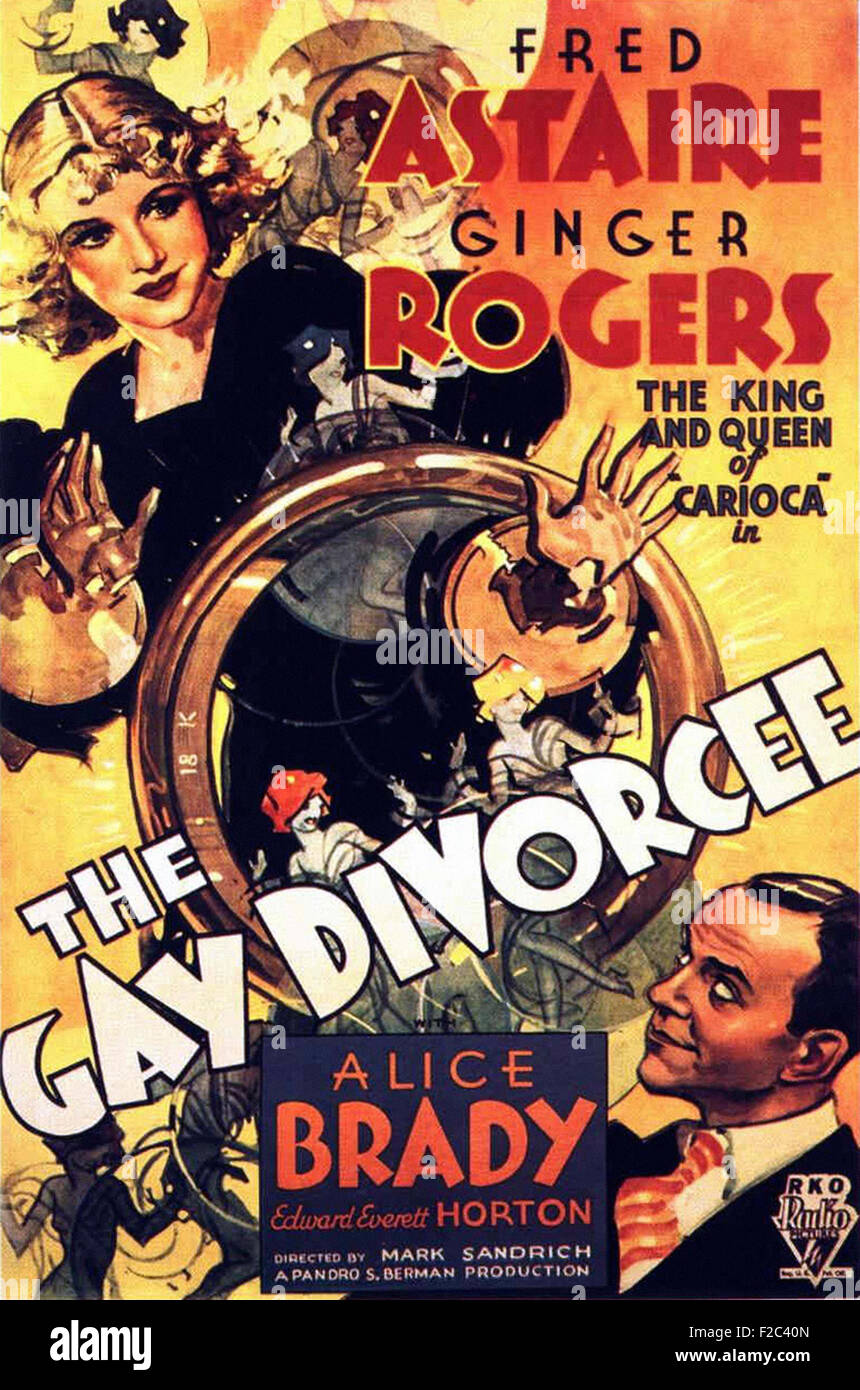 Gay Divorcee, The    - Movie Poster - Stock Image