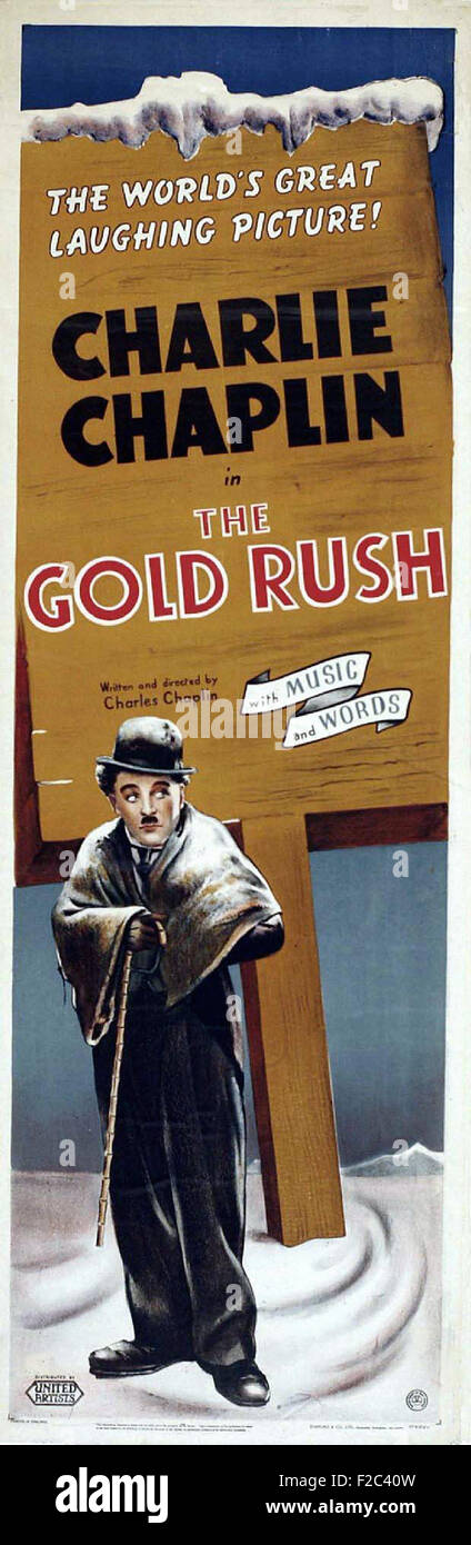 Gold Rush, The   02 - Movie Poster - Stock Image