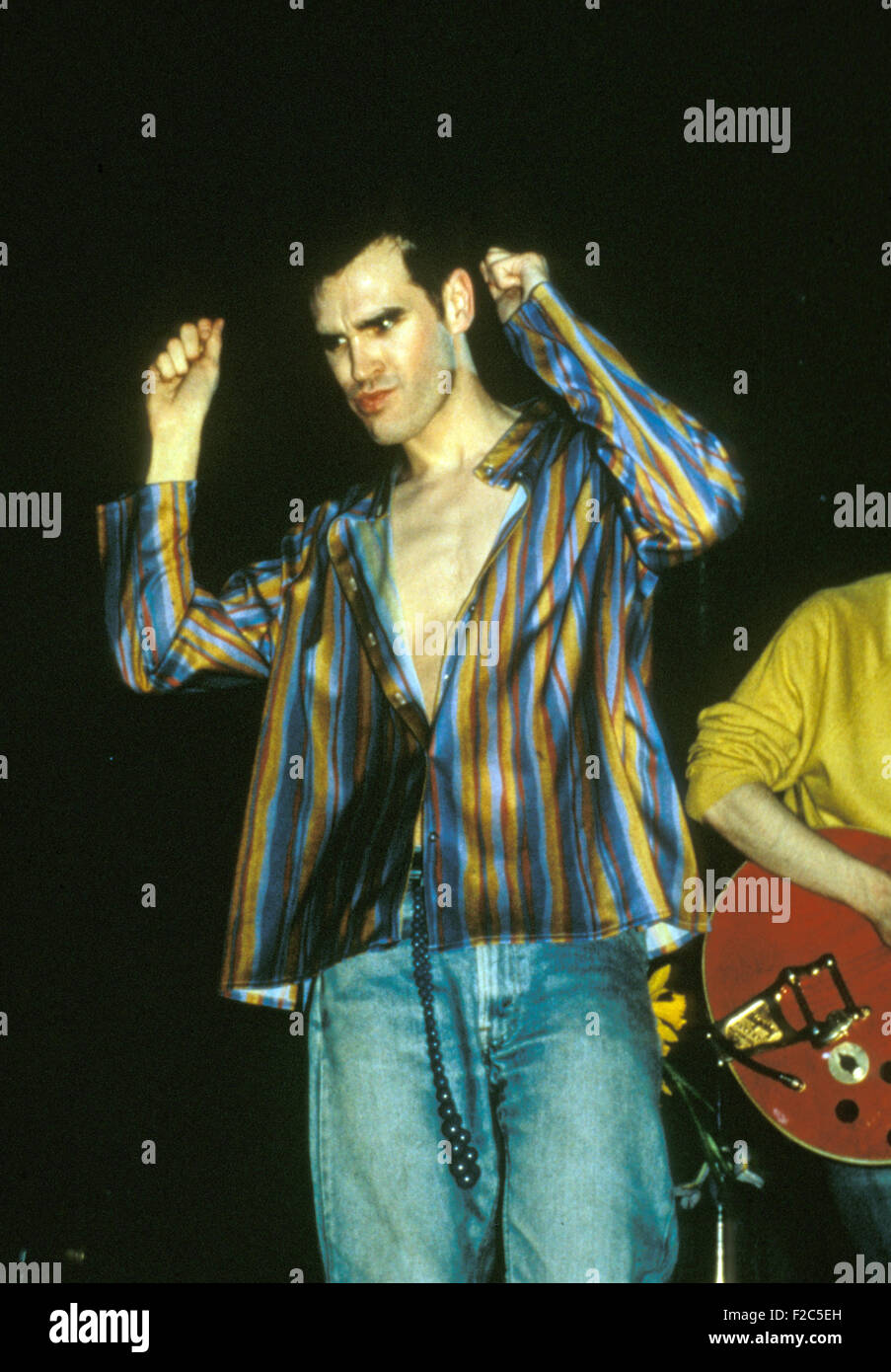 THE SMITHS  UK group with singer Morrissey in October 1986 - Stock Image