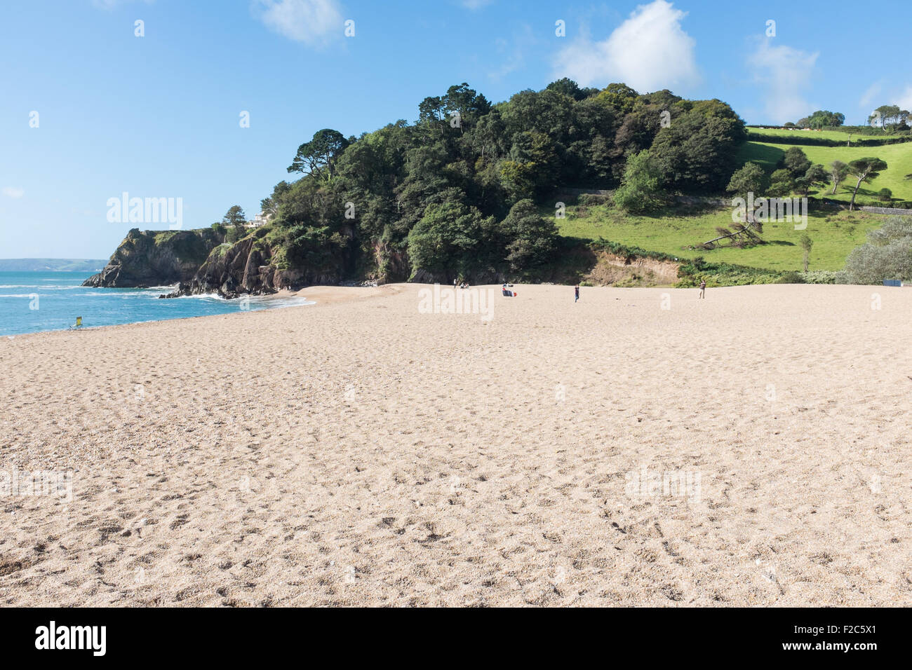 Blackpool Sands near Dartmouth in the South Hams, Devon - Stock Image