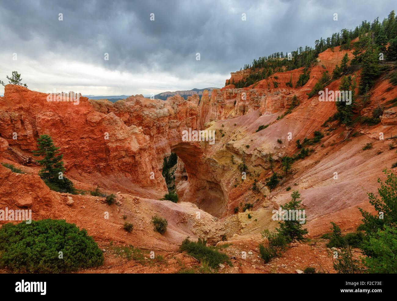 Natural Stone Bridge/Arch at Bryce Canyon, Utah - Stock Image