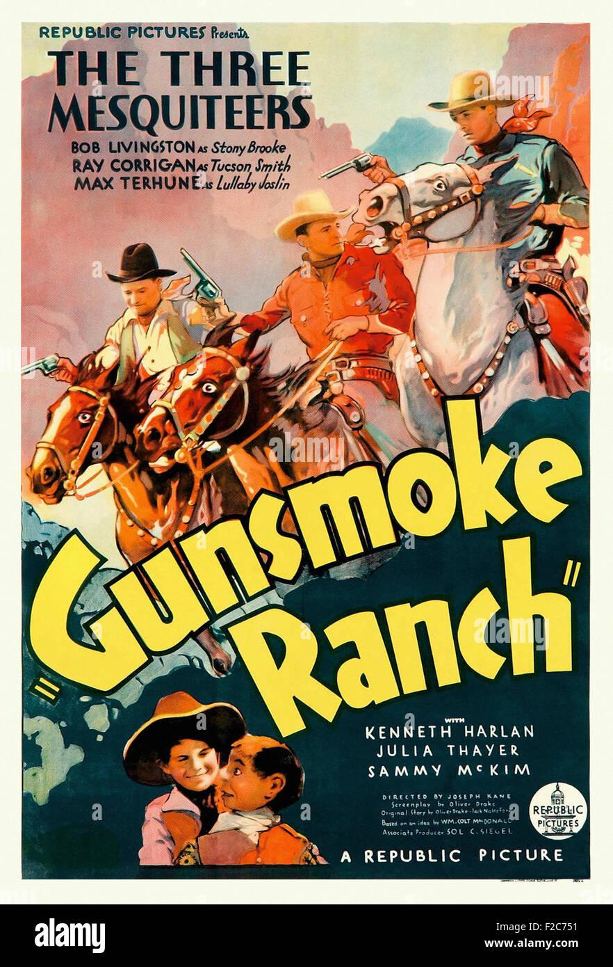Gunsmoke Ranch 01 - Movie Poster Stock Photo: 87550205 - Alamy
