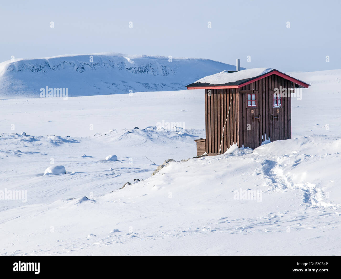 A loo with a view in Finland - Stock Image
