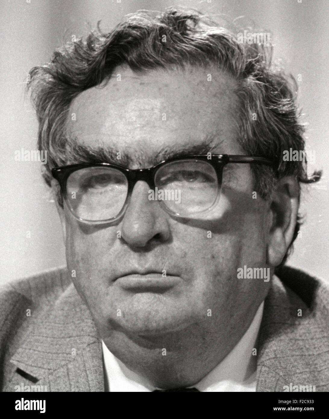Denis Winston Healey Lord Healey British Labour politician 1984 image - Stock Image