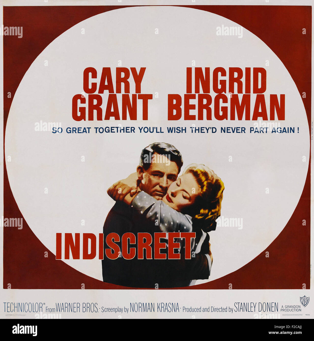 Indiscreet (1958) 02 - Movie Poster - Stock Image