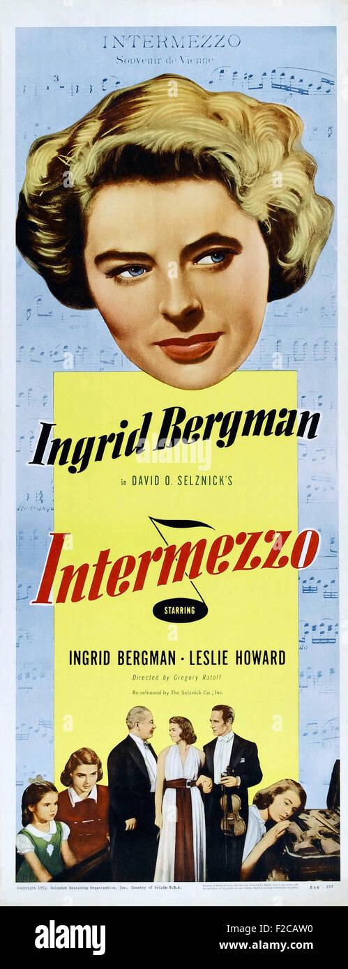 Intermezzo, A Love Story 01 - Movie Poster - Stock Image