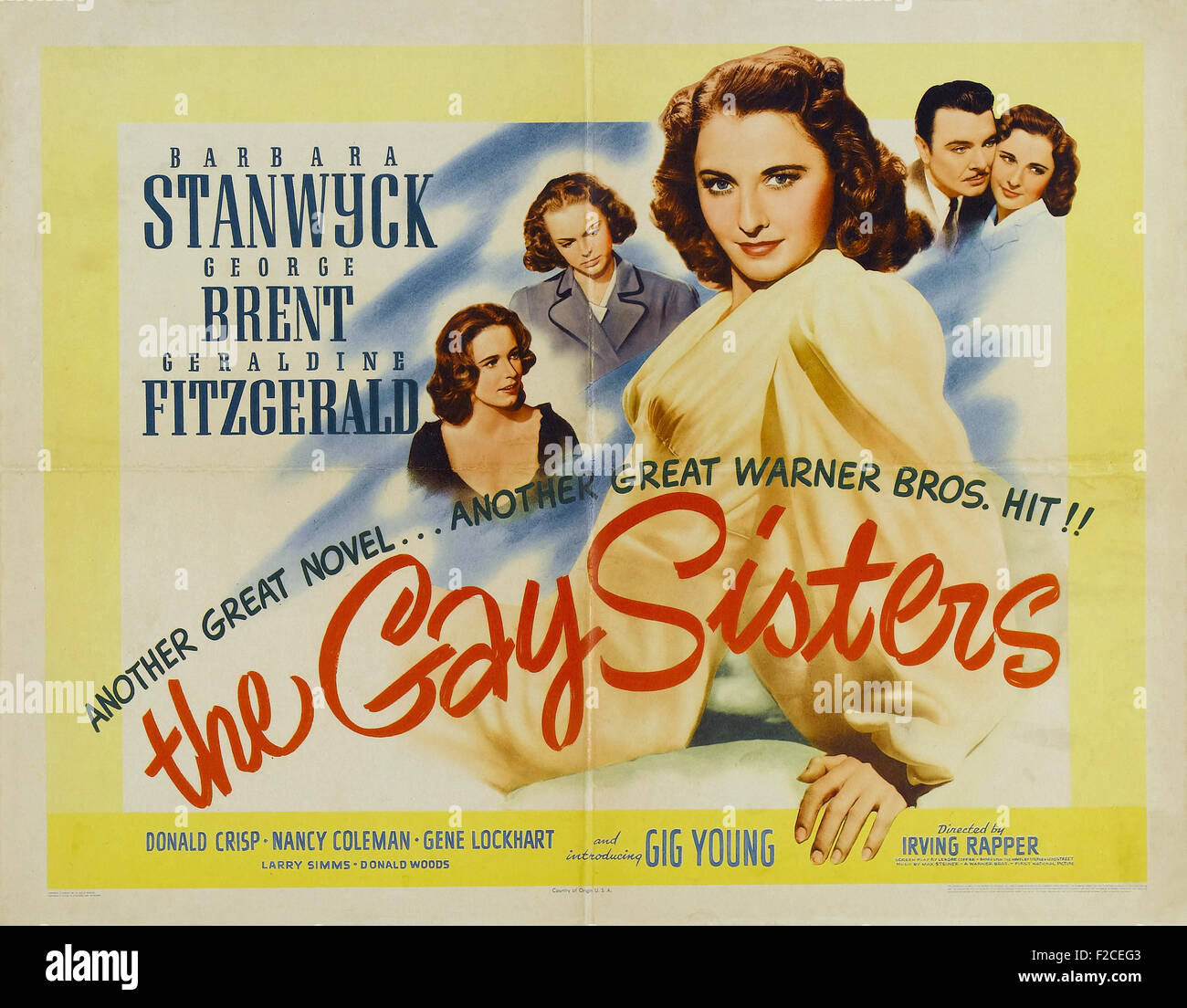 Gay Sisters, The  02048  - Movie Poster - Stock Image