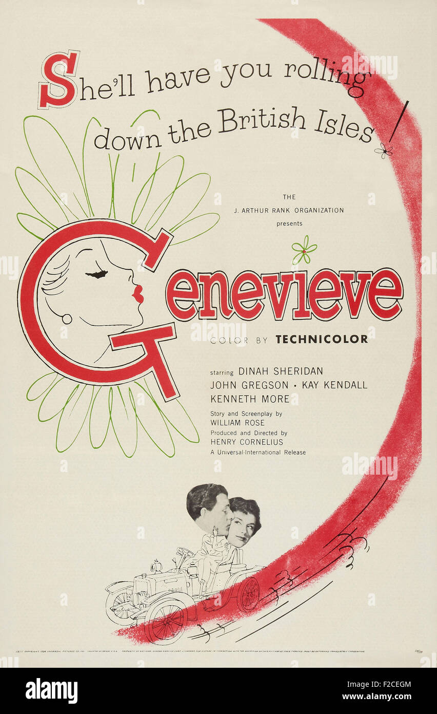 Genevieve (1953)  01064  - Movie Poster - Stock Image