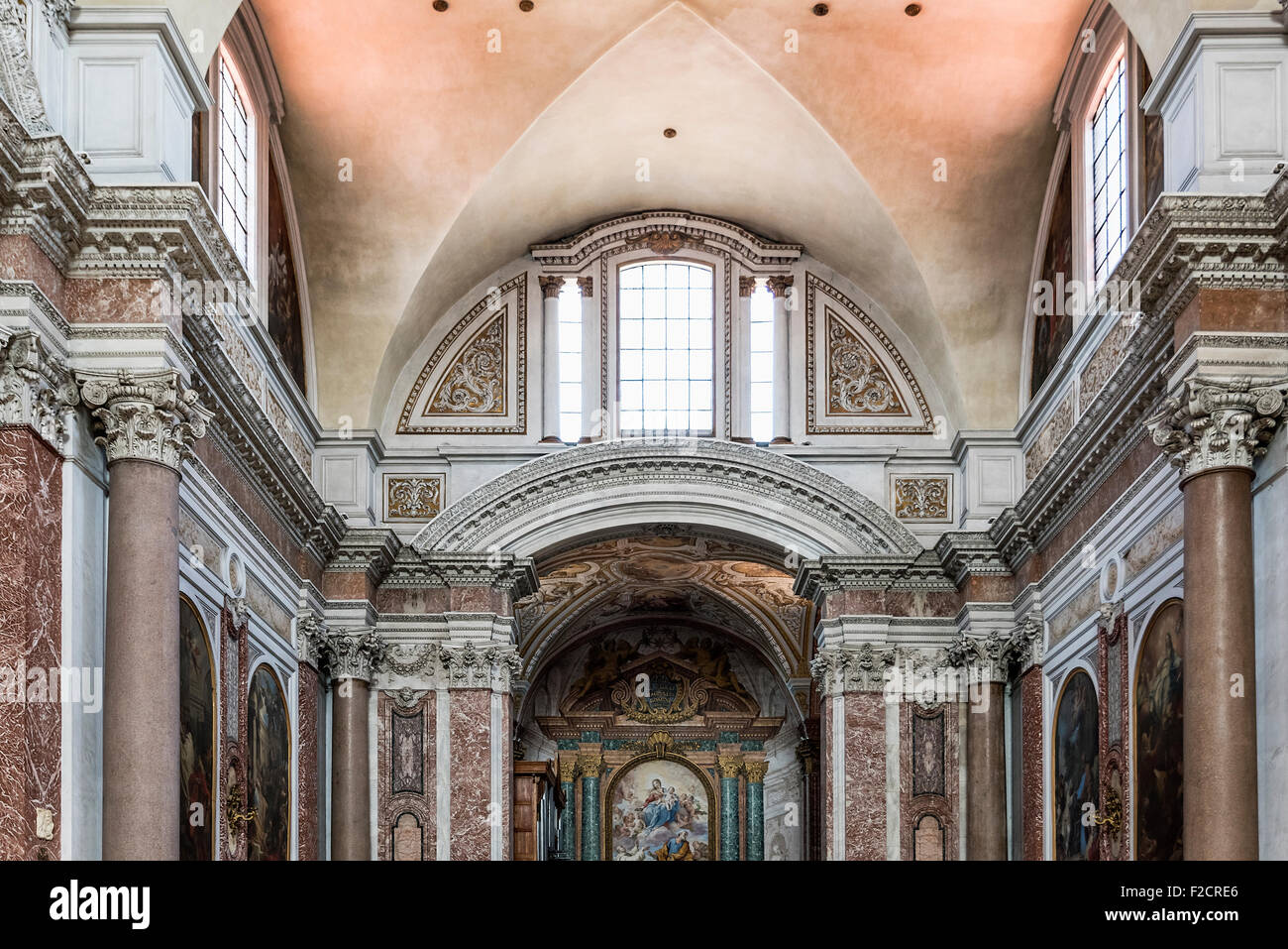 Transept detail, Basilica of St. Mary of the Angels and the Martyrs, Rome, Italy - Stock Image