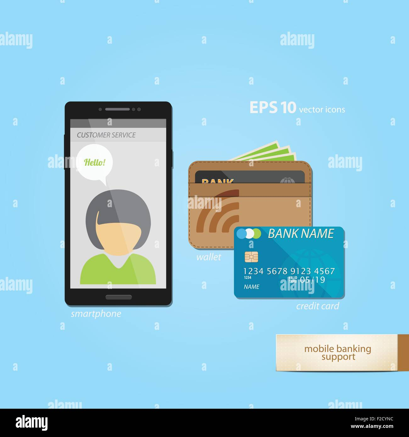 mobile banking and e-commerce concept with credit cards