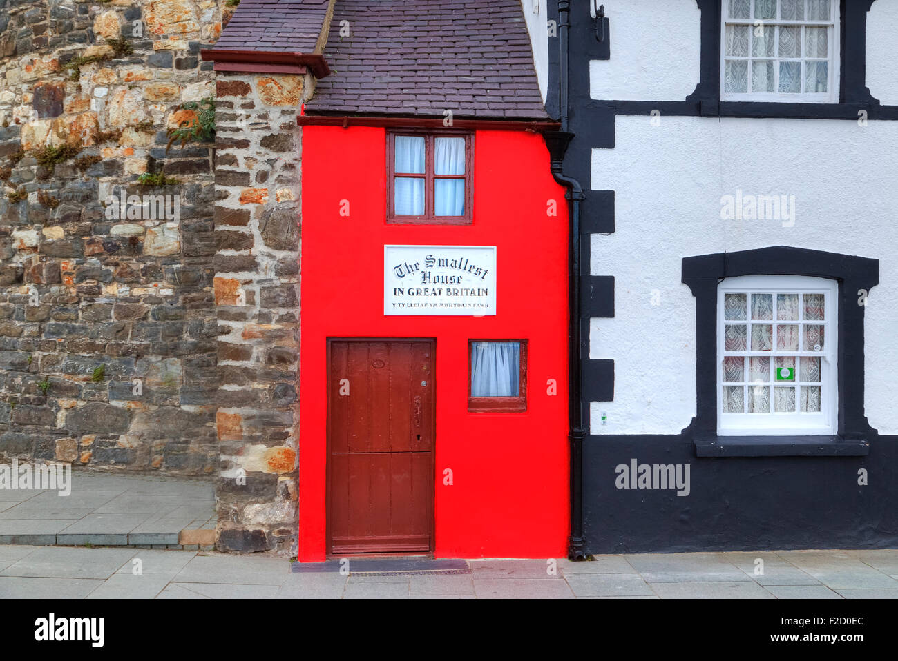 The smallest house in Great Britain, Conwy, Wales, United Kingdom; - Stock Image