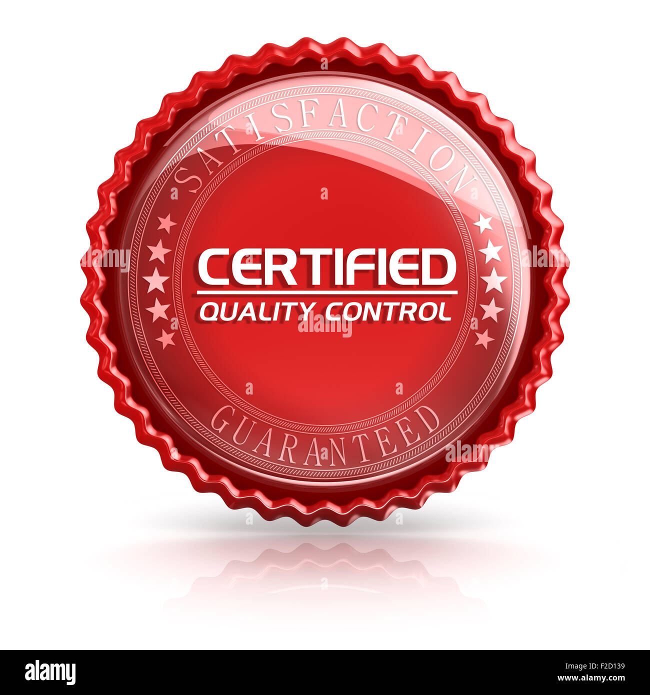 Certified quality control , 3d rendered image. - Stock Image
