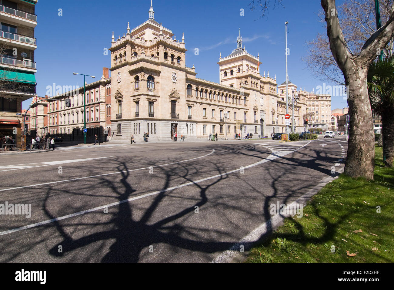 The Academia de Caballeria in Valladolid, Spain - Stock Image