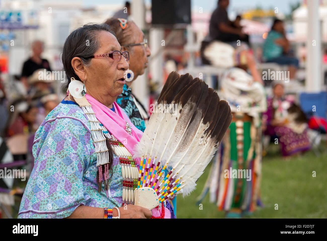 Rosebud Indian Reservation, South Dakota - The Rosebud Sioux Tribe's annual wacipi (powwow). - Stock Image