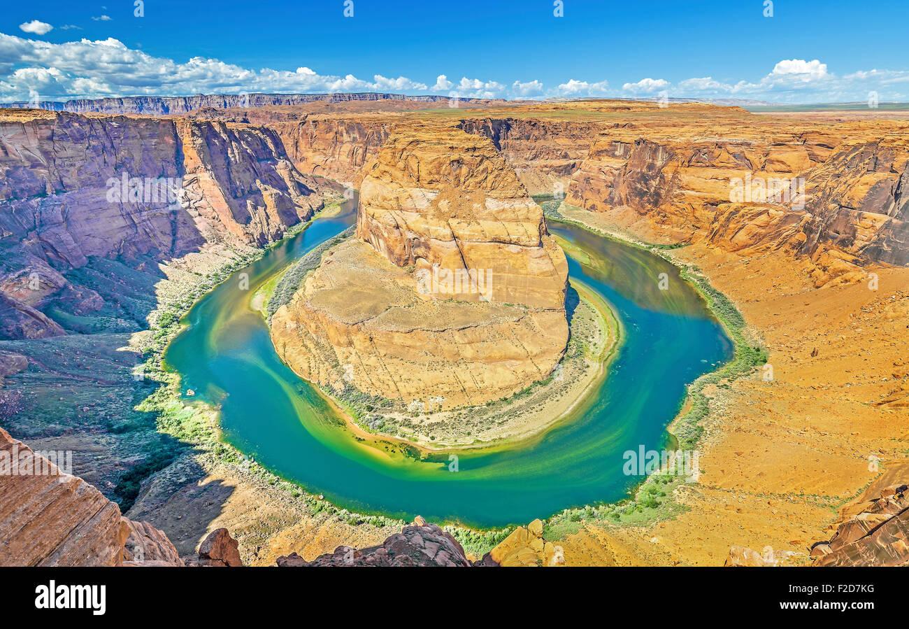 Horseshoe Bend, Colorado River, Arizona, USA. - Stock Image