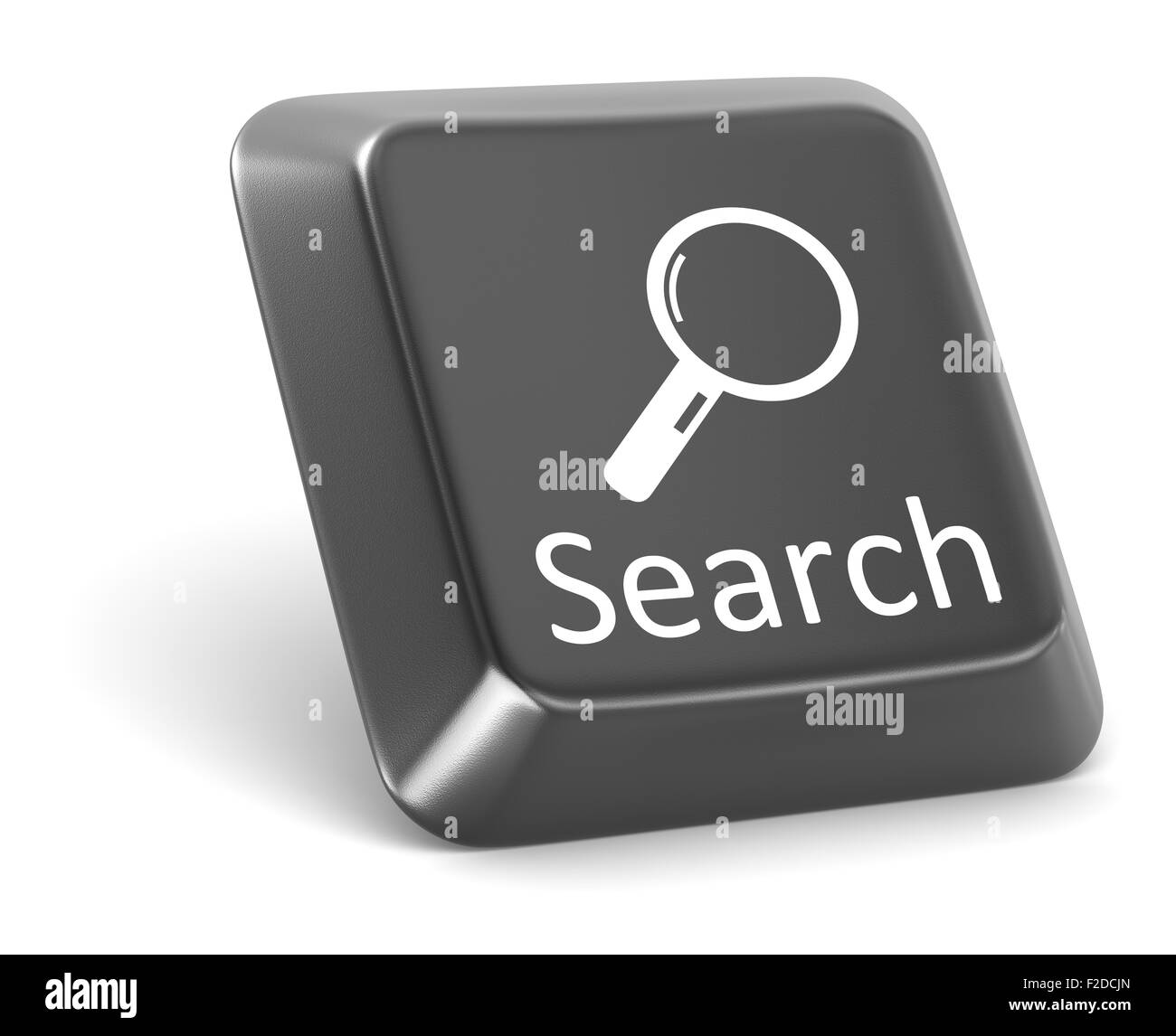 Search button , This is a computer generated and 3d rendered picture. - Stock Image