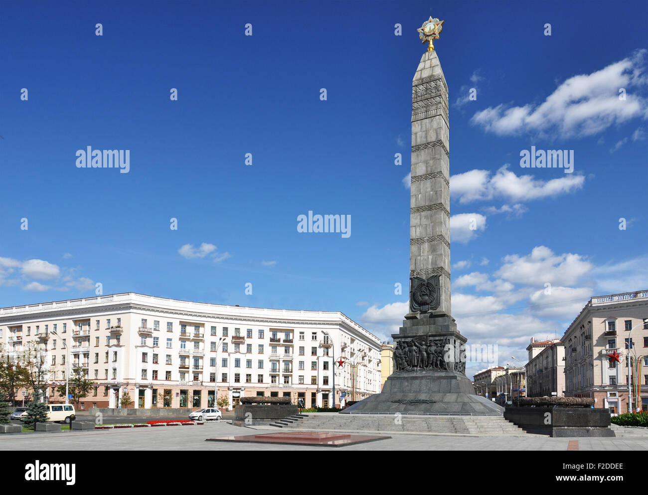 Victory square in Minsk, Belarus - Stock Image