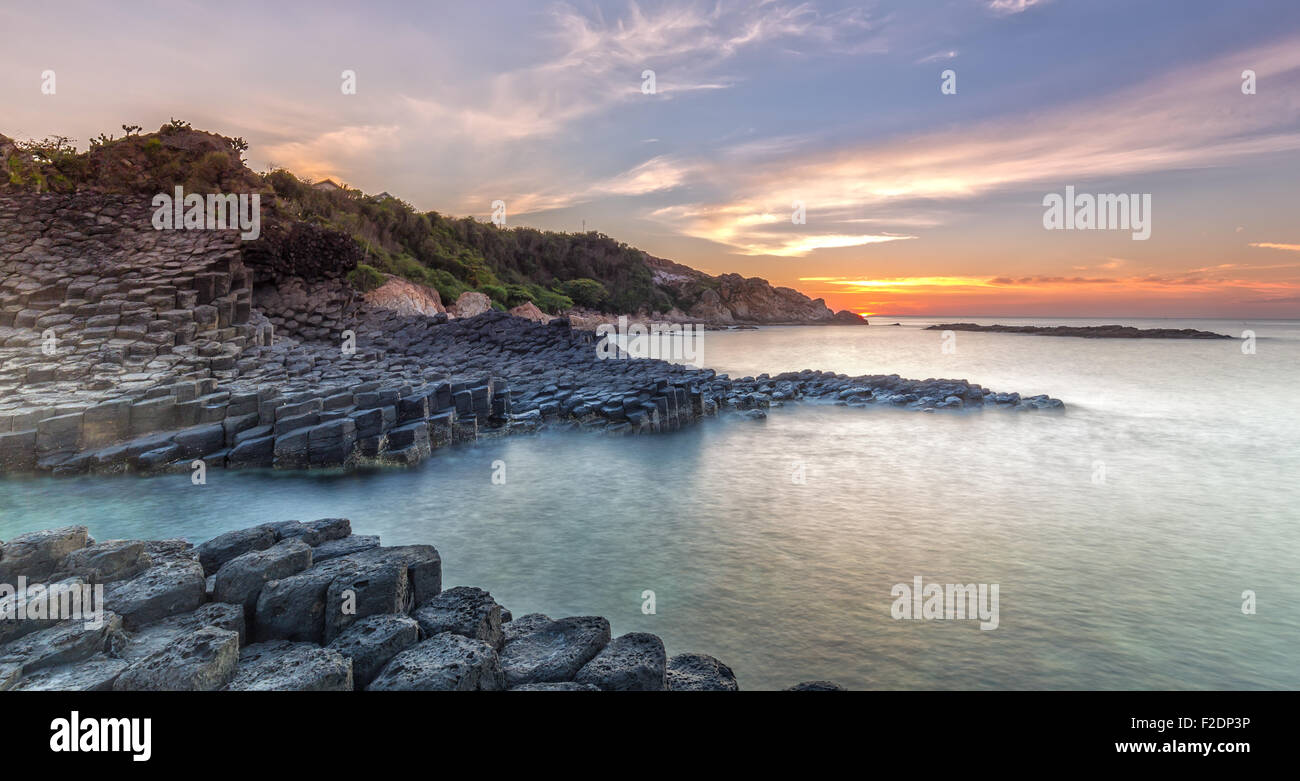 Sunrise on Giant Causeway Stock Photo