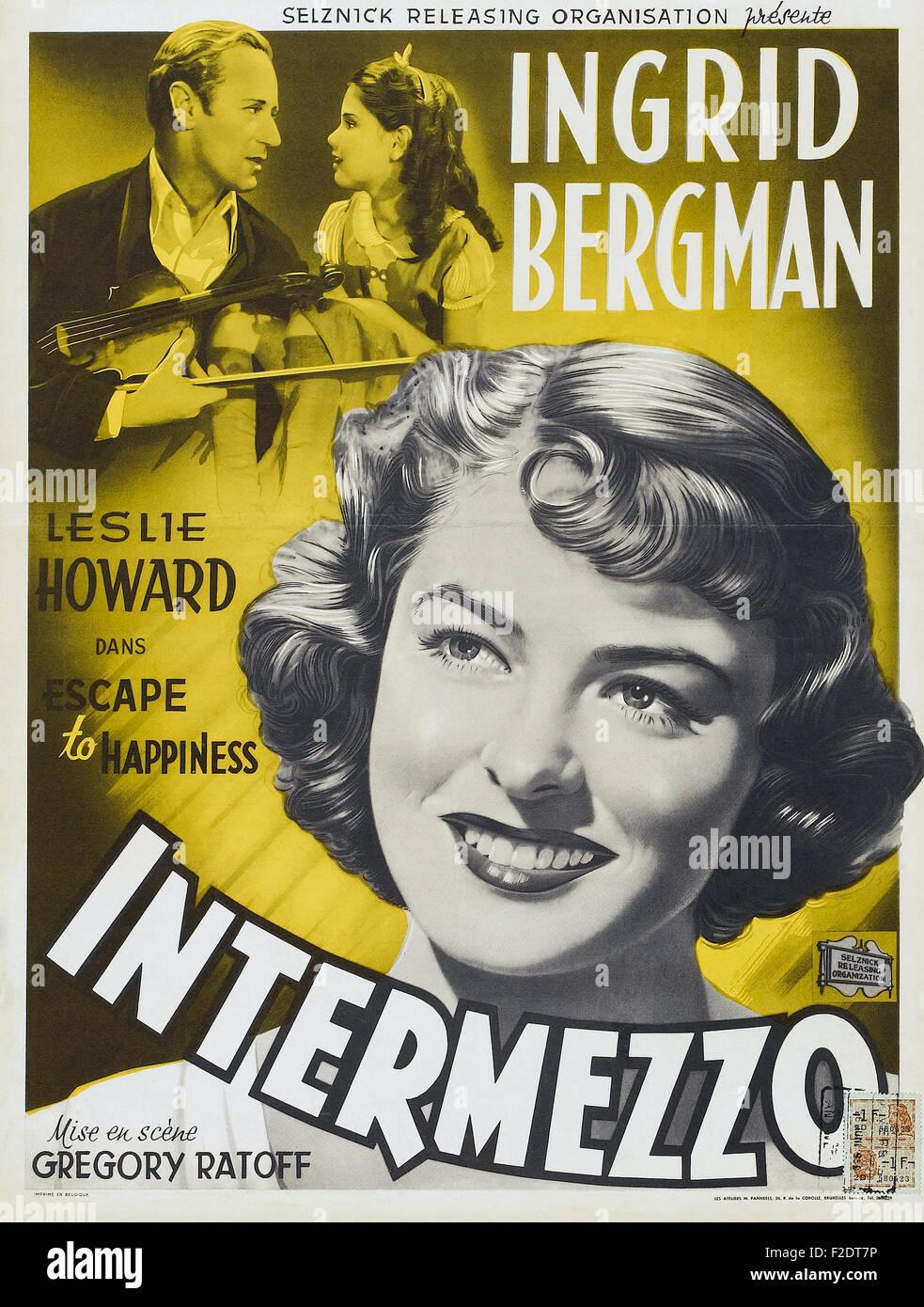 Intermezzo, A Love Story 03 - Movie Poster - Stock Image