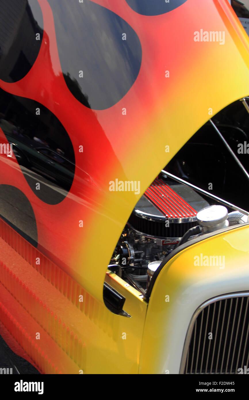 Classic Car Flames Brian Mcguire Stock Photo 87586245 Alamy