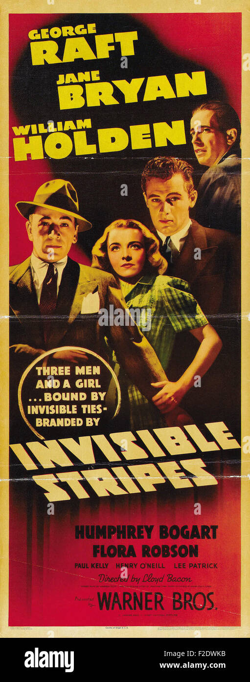 Invisible Stripes 05 - Movie Poster - Stock Image